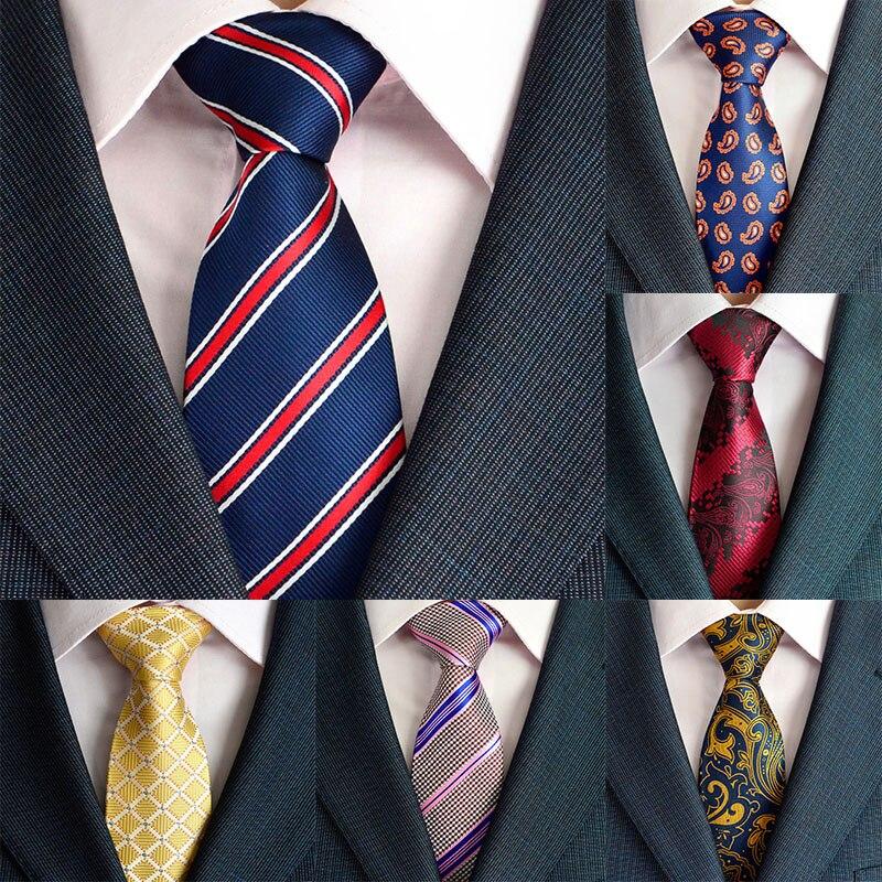 Hombre 8CM Men Tie Formal Dress Neck Tie Paisley Cildrens Plaid Fashion Wedding Party Men Gifts New Design Mens Gravata Tie