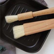 Escova de cozinha escova de cozimento de pastelaria escova de óleo de churrasco escova de cozinha redonda lidar com cerdas ferramentas para churrasco