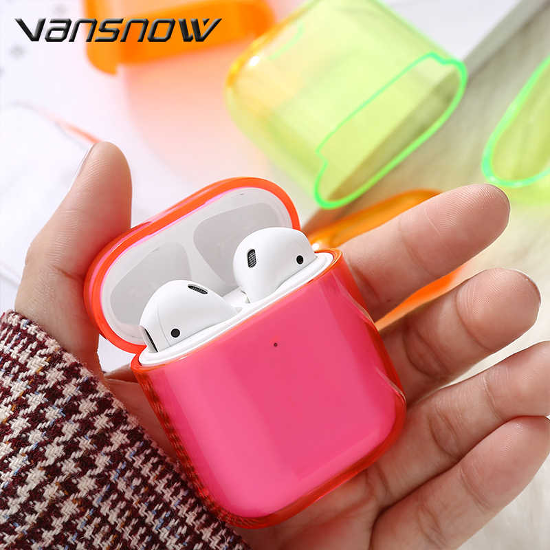 Transparent Wireless Bluetooth Earphone Case For  Airpods Charging Headphone Box Case For Airpods Case airpods accessories