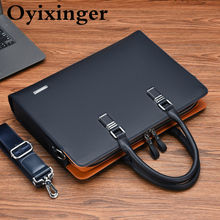 Laptop-Bag Business-Briefcase 14inch Male OYIXINGER Men for Casual A4 Document-Storage