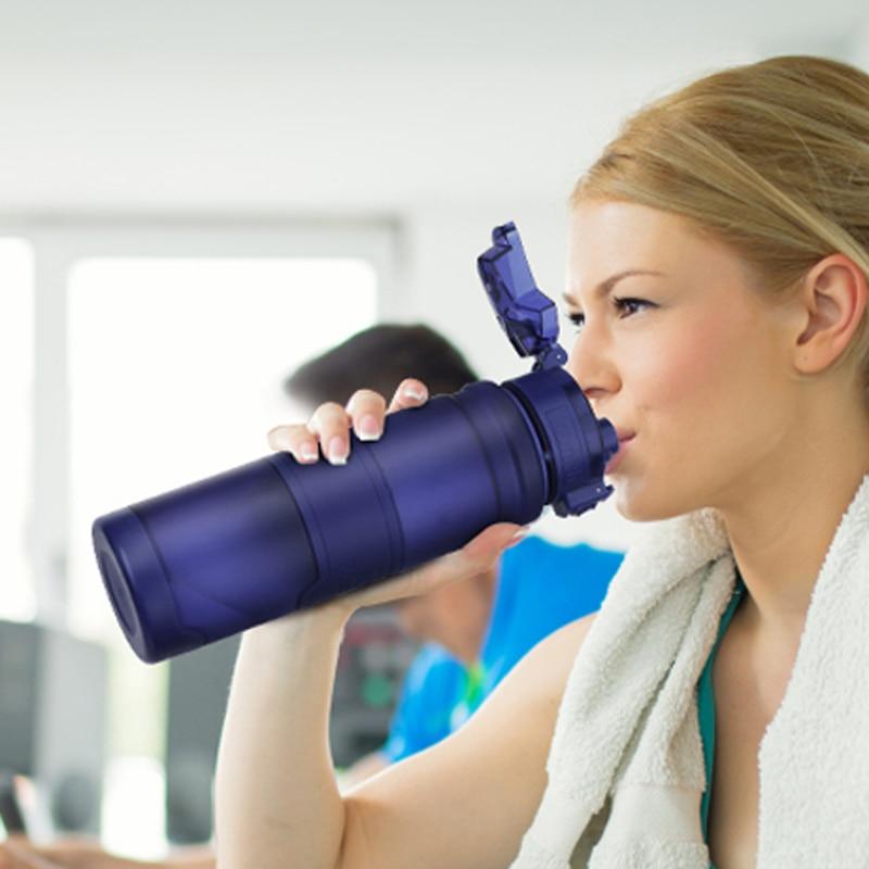 Travel Bottles Leak proof Plastic kettle 500mL BPA Free Sport Water Bottles Protein Shaker Outdoor Tritan plastic Drink Bottle-in Water Bottles from Home & Garden on AliExpress