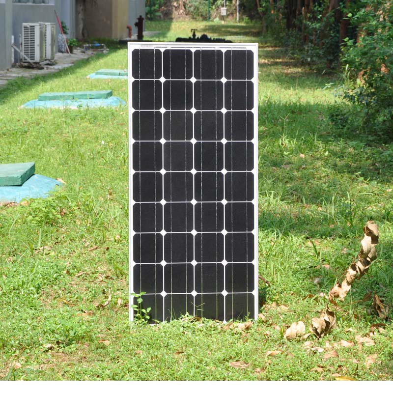 100W PV Mono Solar Panel off Grid Solar System High Efficiency for Car Home Camp