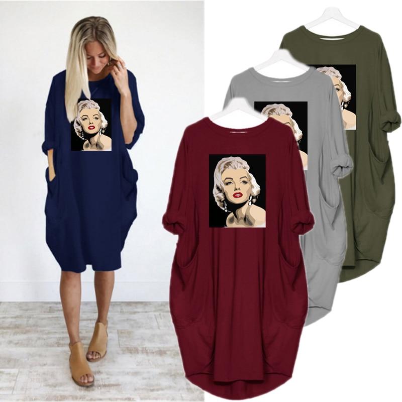2020 Women Marilyn Monroe Dress Plus Size Dresses