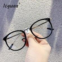 Прозрачные очки оптические оправы для женщин 2020 круглая оправа