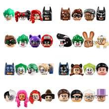 Продажа фильма «бэтмам», аксессуары для головы персонажей, строительные блоки, подвижные куклы, детские подарки, Минифигурки, игрушки PG8009