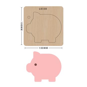 SMVAUON Scrapbook Die Cut śliczna świnka DIY handmade nowe matryce do 2020 drewniany szablon do wycinania formy do wykrawania tanie i dobre opinie Zwierząt Laser mold