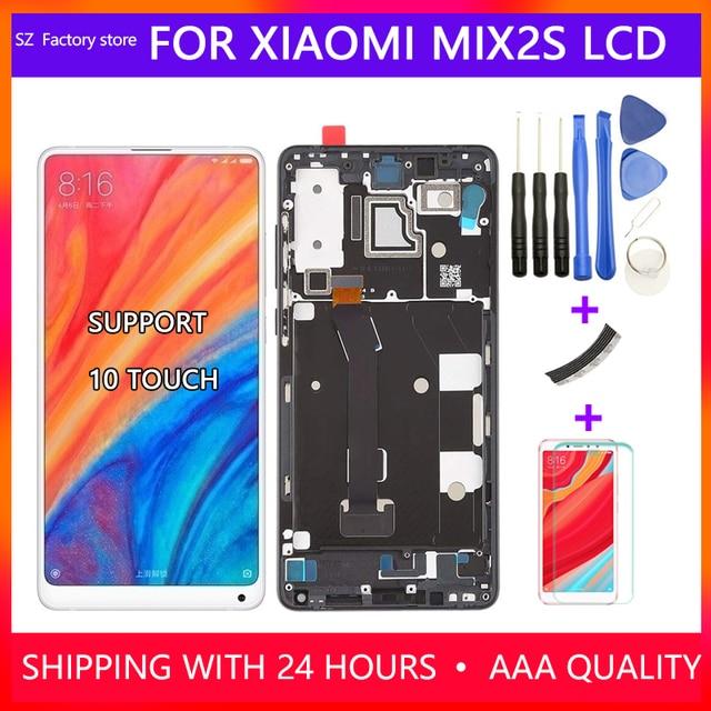 Xiao mi mi x 2s lcd 디스플레이 및 터치 스크린 디지타이저 프레임 어셈블리 용 5.99 인치 스크린 교체 mi mi x2s 용