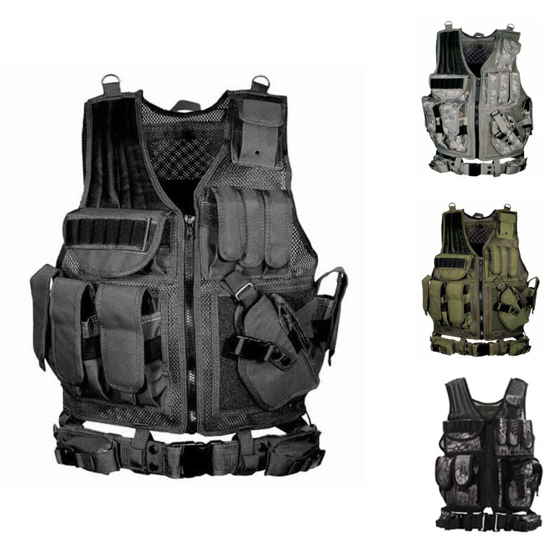 Men Tactico Tactical Vest Adult Army Combat Armor Clothes Outdoor Jungle Military Uniform Clothing Sleeveless Jackets Waistcoat