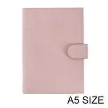 New Arrival Genuine Litchi Grain Cowhide Leather A5notebook Diary planner journal Stationery notepad Agenda Organizer Big Pocket