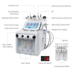 Гидро дермабразия уход за кожей красота машина вода кислородная струя гидро алмазный пилинг микродермабразия био лифтинг спа Пузырьковая машина для очистки кожи лица      АлиЭкспресс