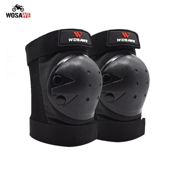 WOSAWE Motorcycle Elbow & Knee Pads Motocross Knee Protector Riding Skiing Snowboard Skate Protective MTB Knee Guard wosawe mtb motorcycle knee elbow protective pad set motocross snowboard racing ski racing roller body protection knee pads kits