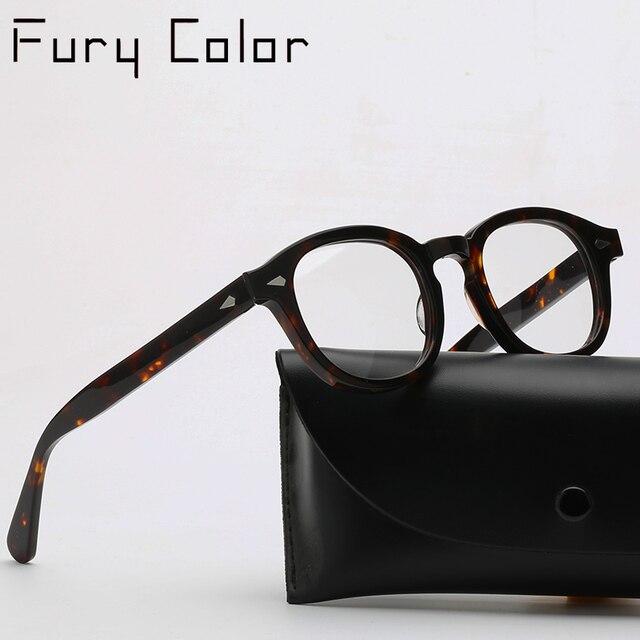Lunettes rondes rétro Vintage en acétate, lunettes rondes de Style Johnny Depp, monture optique pour myopie, prescription pour hommes et femmes