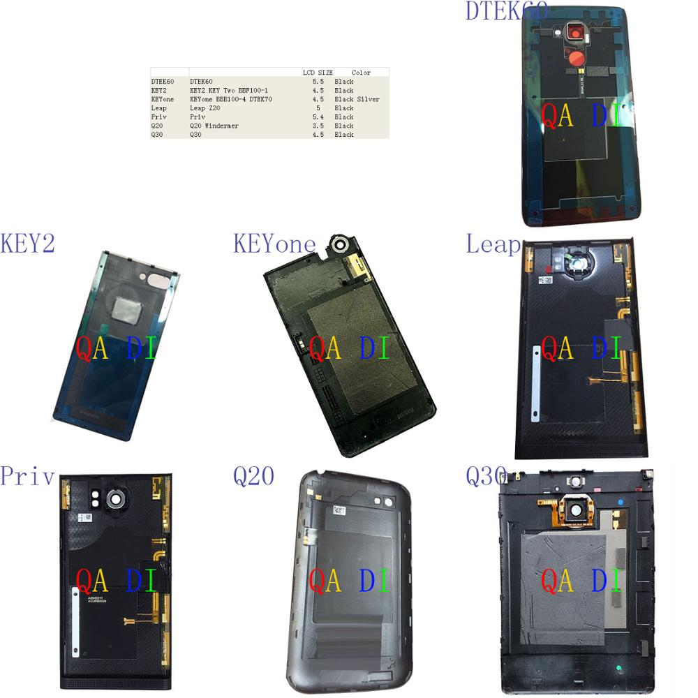 Battery Cover Door Back Cover For BlackBerry DTEK60 KEY2 KEYone Leap Priv Q20 Q30 Two BBF100 BBB100 4 DTEK70 Z20 Windermer(China)