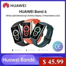 Оригинальный Смарт-браслет Huawei Band 6 с AMOLED экраном 1,47 дюйма, трекер сердечного ритма и кровяного кислорода, браслет для мониторинга сна, смарт...