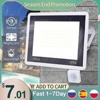 Foco reflector LED con sensor de movimiento lámpara impermeable para pared exterior o jardín, 10W, 20W, 30W, 50W, 100, 220V