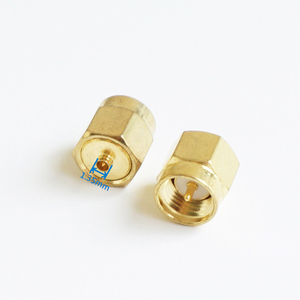 1 pcs adaptador ipx macho para sma macho cabo conector soquete sma-ipx u. fl diâmetro 1.35mm em linha reta ouro bronze coaxial rf adaptadores