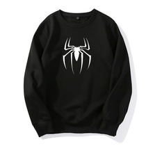 Men/women Black Hip Hop Casual Cotton Spiderman Mens Sweatshirt Fashion Clothes Spider Man Hoodies