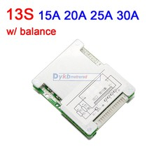 13S 48V 30A 25A 20A 15A Li ion lithium battery protection board BMS W/balance 18650 Liion lipo 3S 4S 6S 7S 10S 12V 24V 36V CELL
