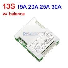 Placa de protección de batería de litio 13S, 48V, 30A, 25A, 20A, 15A, BMS con balance 18650 Liion lipo 3S 4S 6S 7S 10S 12V 24V 36V
