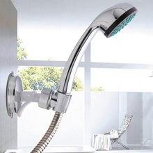 Soporte de plástico para alcachofa de ducha montaje en pared de baño cromado soporte de succión ajustable pulido ligero robusto duradero 611