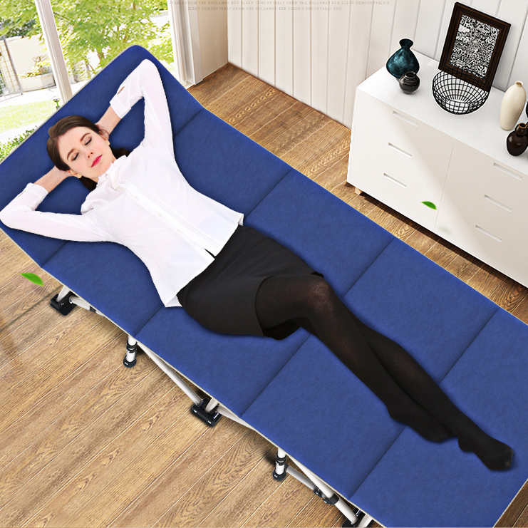 Folding Sheets People Lunch Bed Home Nap Bed Office Portable Camp Bed Simple Reclining Bed Folding Bed|  - title=