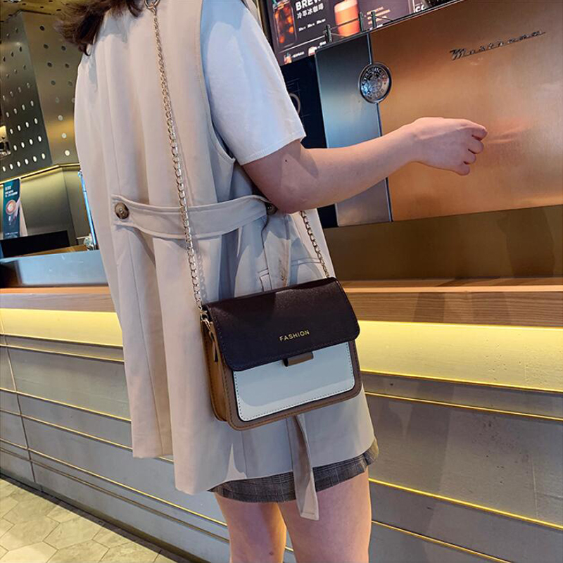 Yogodlns Contrast Color Messenger Bags for Women 2020 Travel Shoulder Bags Crossbody Bags for Girls PU Leather Handbags Summer