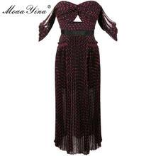 Женское вечернее платье в горошек moaayina элегантное винного