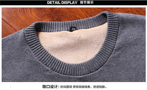 masculina 100% algodão camisola quente para masculino inverno mais novo casual