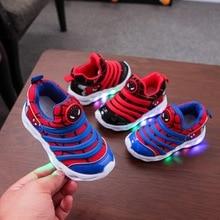 2020 New brand Fashion mesh kids sneakers Spring/Autumn Hook&Loop girls boys
