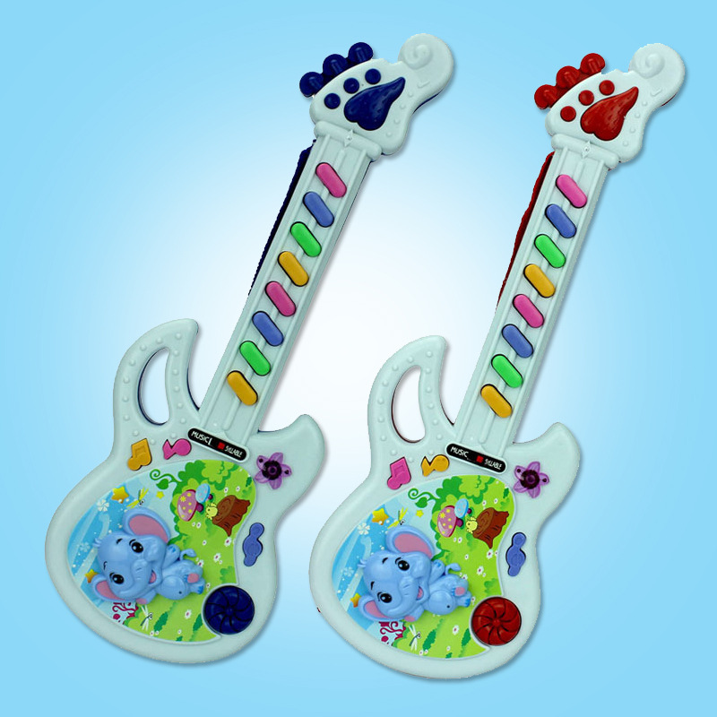 Stall Hot Selling Cute Animal Electronic Music Guitar Electric Toys CHILDREN'S Toy Wholesale