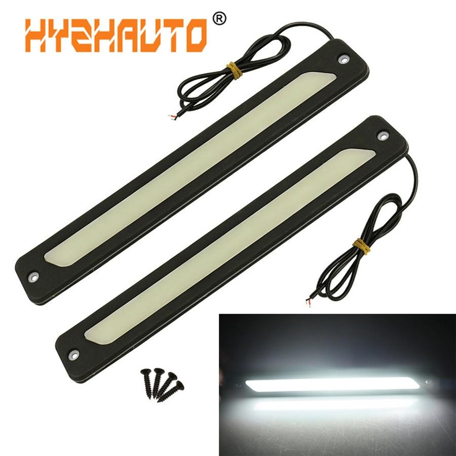 2Pcs Car Flexible LED COB DRL Daytime Running Light Reversing Fog Lamp DC 12V