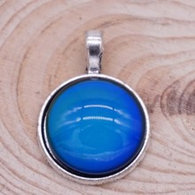 Pendant with Color Changing Stone Vintage Alloy Emotion Feeling Mood Necklace Pendants Fashion Jewelry