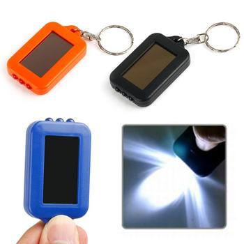 Mini Portable Solar Power 3 LED Light Torch Flashlight Small Keychain Style Camping Flash Light Hiking Outdoor Led Light 2018 new 100% original nitecore sens aa flashlight cree r5 led fish bicycle camping hiking portable keychain keyring mini torch