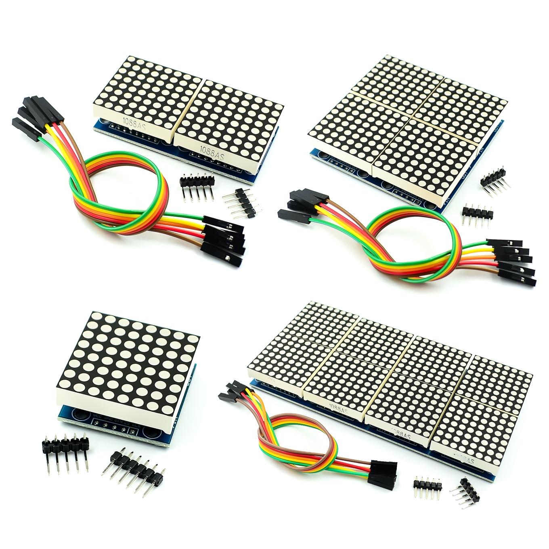 MAX7219 Dot Matrix Module Microcontroller Module DIY KIT Red LEDs