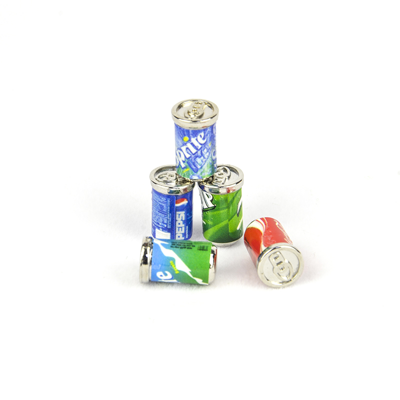 Wholesale 1:12 Dollhouse Miniature Mini Cola Sprite Soda Drink Doll Accessories Toy For Forest Animal Family Collectible Gift