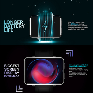 "Image 2 - 2.86 ""IPS HD מסך גדול 4G חכם שעון DM100 אנדרואיד 7.1 Smartwatch MTK6739 Quad Core 2700mAh סוללה 3GB 32GB Wifi GPS מצלמה"