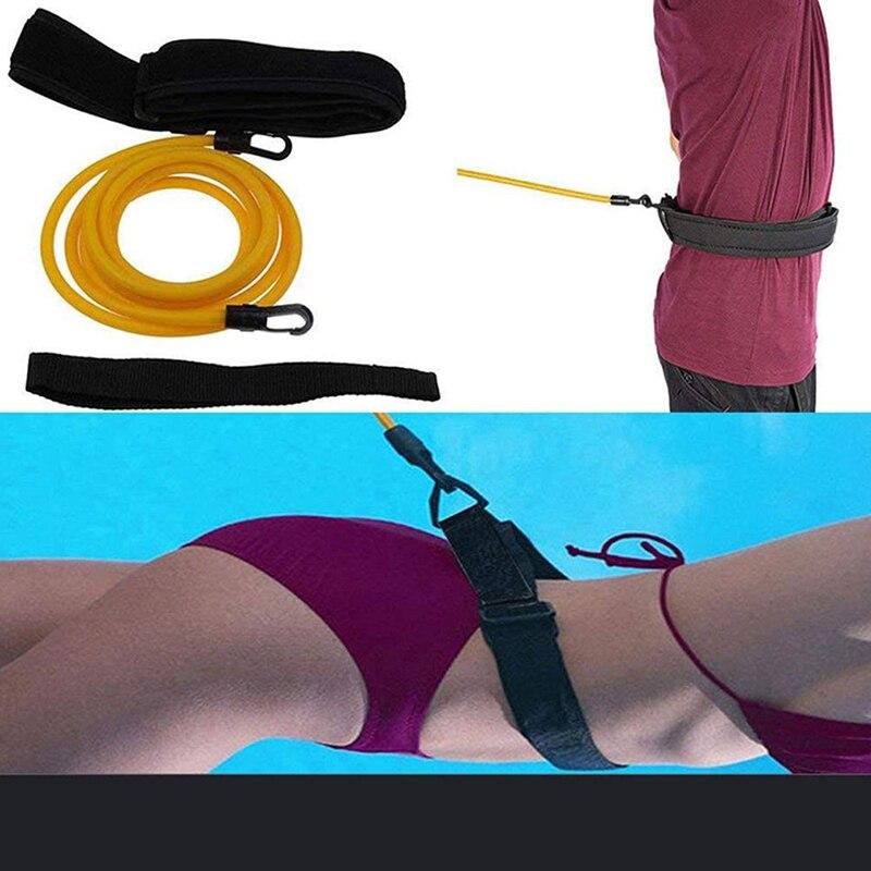 Cinto de Natação Treinamento de Resistência Corda de Segurança de Látex Ajustável Nadar Elástica Exercitador Tubos Duas Especificações Estilos