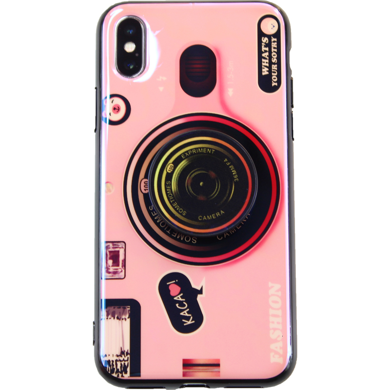 Fashion 3D Retro Camera lanyard Standing Case For iPhone And Samsung S8 S9 1