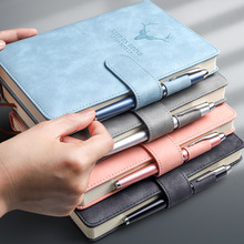 Kabaxiong A5 Notebook A5 with Buckle Book Office B5 Book Conference Notebook Thick