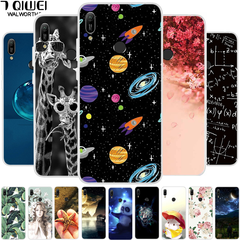 For Huawei Y6 2019 Case Y 6 2019 Soft TPU Silicone Print Phone Case For Huawei Y6 2019 Case Cover 6Y Cute For Huawei Y6S 2019 Fitted Cases    - AliExpress