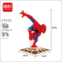The Marvel Avengers Spider Man Hero DIY 3D Model Diamond Mini Building Small Blocks Bricks Toy for Children no Box