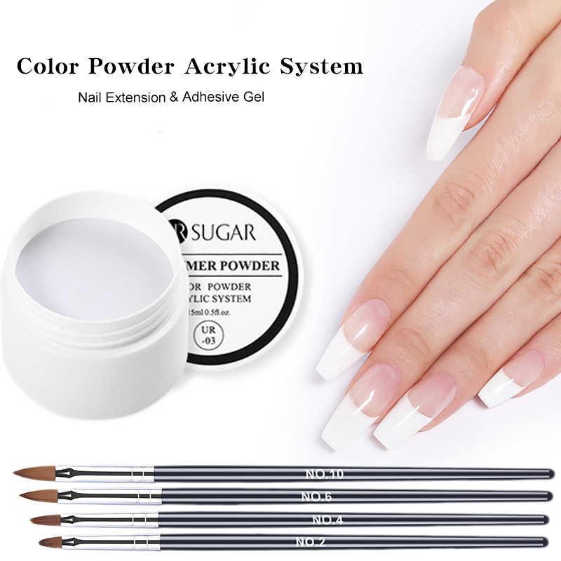 Acryl Poeder Acryl Nail Kit Crystal Nail Polymer 5 Stuks Nail Art Pen Brush Uv Gel Nail Acryl Poeder Gratis verzending