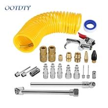 20 pces compressor de ar acessórios kit contém vários acessórios úteis do compressor de ar 25 pés mangueira de ar recoil