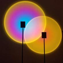 Sunset Projection Led Light, Rainbow Floor Stand Modern Table Lamp Night Light for Living Room Home Decoration Coffe Shop Lamp