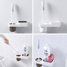 Набор щеток для чистки туалета в ванной комнате с платформой для хранения. A5YD