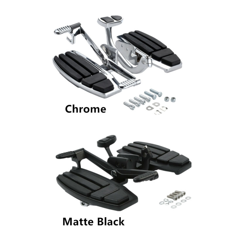 Motorcycle Driver Floorboard Brake Lever Pedal Kit For Honda Goldwing 1800 2001 2017 F6B Valkyrie Foot Rests     - title=