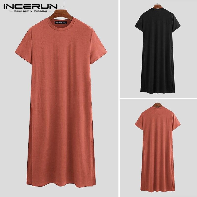 Купить футболка incerun мужская с круглым вырезом модная уличная одежда