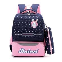 Litthing 2PCS Large Schoolbag Cute Student School Backpack Waterproof Bagpack Primary Book Bags For Teenage Girls Kids