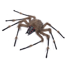 Foldable Glowing Spider Halloween Tricky Toy Colorful DIY Festival Party Decoration
