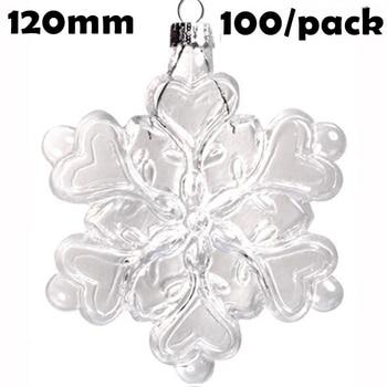 Free Shipping DIY Paintable Christmas Xmas Decoration Ornament/Ball 120*100mm Glass Snowflake, 100/Pack